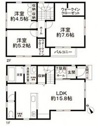 [一戸建] 東京都大田区中央5丁目 の賃貸【/】の間取り