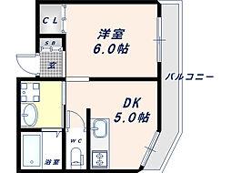 YKヒルズ[3階]の間取り