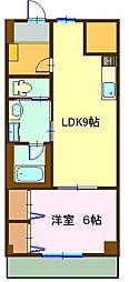ピアコートC[5B号室]の間取り