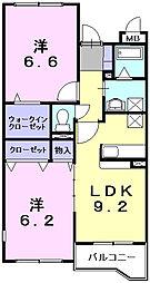 フロイデヴォーヌング[3階]の間取り