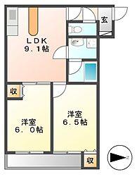 ガーディアン千代田[6階]の間取り