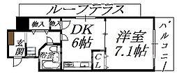 大阪府大阪市阿倍野区美章園3丁目の賃貸マンションの間取り
