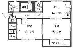 デルニエ B[1階]の間取り