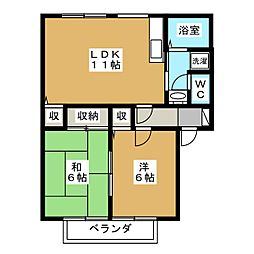 コートビレッジ下川俣A[1階]の間取り
