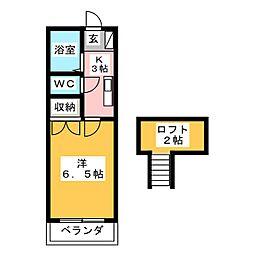 ローザンヌ春日井[2階]の間取り