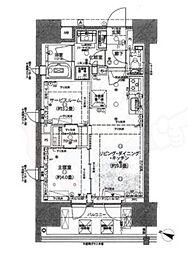 ピアース渋谷WEST 4階2LDKの間取り