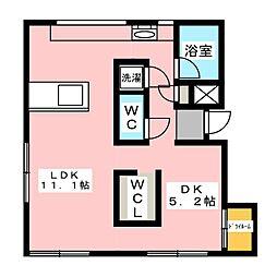 ARTE新清洲[3階]の間取り