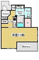 ダブルオービー新神戸[6階]の間取り