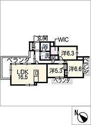 BRIGHT HILLS IKESHITA[3階]の間取り