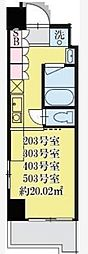 東京都品川区旗の台5丁目の賃貸マンションの間取り