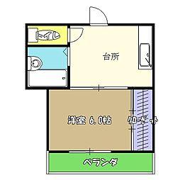 高知県高知市西秦泉寺の賃貸マンションの間取り