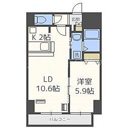 北海道札幌市白石区本郷通9丁目北の賃貸マンションの間取り