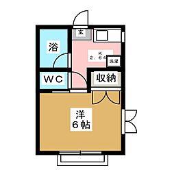 コーポくら家A棟[2階]の間取り