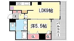 アパタワーズ神戸三宮[420号室]の間取り