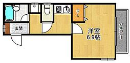 ガーデンズサイド西宮北口[2階]の間取り