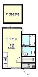ベイルーム戸塚II[203号室号室]の間取り