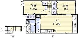 ヴィラソレイユ[2階]の間取り