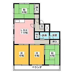 岡田真英ハイツ[2階]の間取り