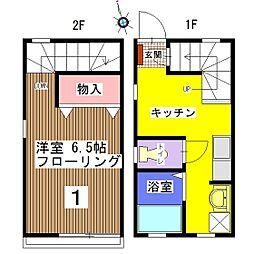[テラスハウス] 千葉県千葉市中央区登戸2丁目 の賃貸【/】の間取り