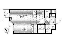 JR山手線 代々木駅 徒歩9分の賃貸マンション 5階1LDKの間取り
