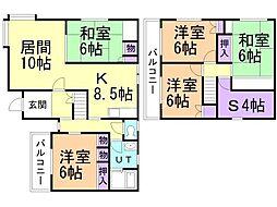 蘭島1丁目貸家(4-9) 1階5SLDKの間取り