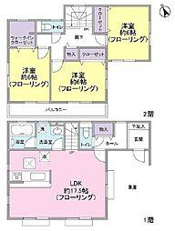 [一戸建] 東京都東久留米市前沢4丁目 の賃貸【/】の間取り