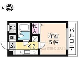 【敷金礼金0円!】京福電気鉄道北野線 等持院駅 徒歩10分