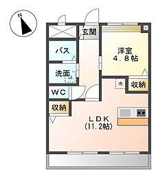 愛知県名古屋市緑区旭出2丁目の賃貸アパートの間取り