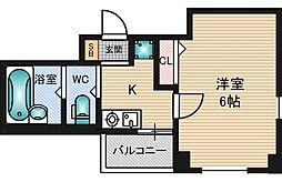 第1クリスタル新大阪[5階]の間取り