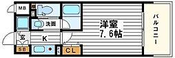ジュネーゼグラン心斎橋東[12階]の間取り