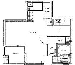 D terrace Tokyo 3階ワンルームの間取り