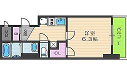 ロイヤルレジデンス北梅田[2階]の間取り