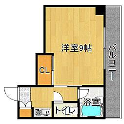キンキ加美ハイツ[3階]の間取り