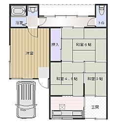 北口平屋[1階]の間取り