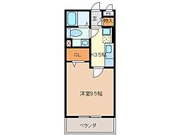 セーリングV A棟[3階]の間取り