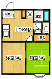 メゾンドール渋谷II[203号室号室]の間取り