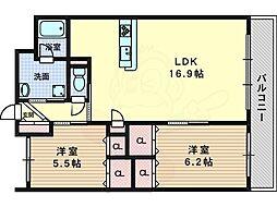 メゾン・ルーシア 3階2LDKの間取り