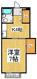テルハイム[2階]の間取り