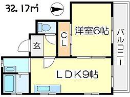 第3ロイヤルハイツ都島[3階]の間取り