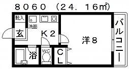 センターフィールドパートIII[402号室号室]の間取り