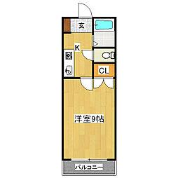 ソリュード[1階]の間取り