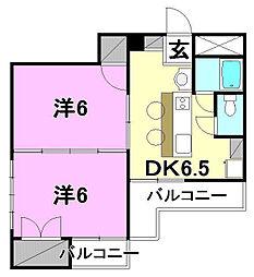キジヤ千舟ビル[601 号室号室]の間取り