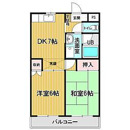シティパル戸塚III[2階]の間取り