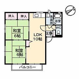 カサベルデ A棟[2階]の間取り