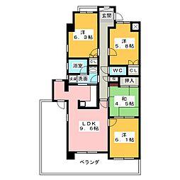藤和シティコープ神山[6階]の間取り