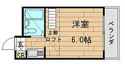 メロディーハイム小阪[2B号室]の間取り