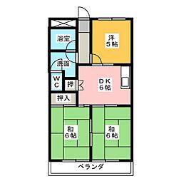 エクセル春日井[3階]の間取り