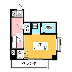 第3大洋ビル[2階]の間取り