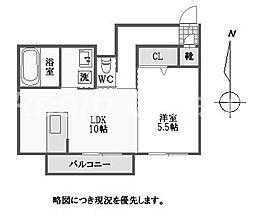 徳島県徳島市安宅1丁目の賃貸アパートの間取り