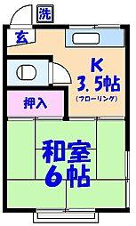 ふじなみ荘[202号室]の間取り